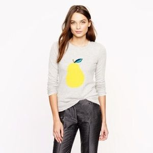 J. Crew Pear Crew Neck Sweater Style 34980 Size Sm